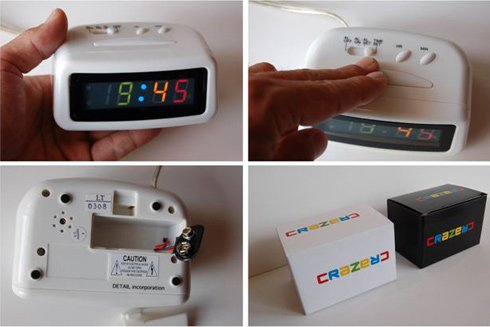 LED alarm clock CRAZE