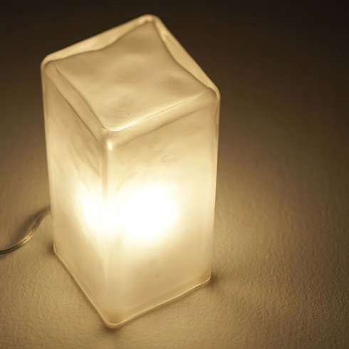 Frosty block lamp